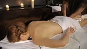 Female Client with Male Massage Therapist